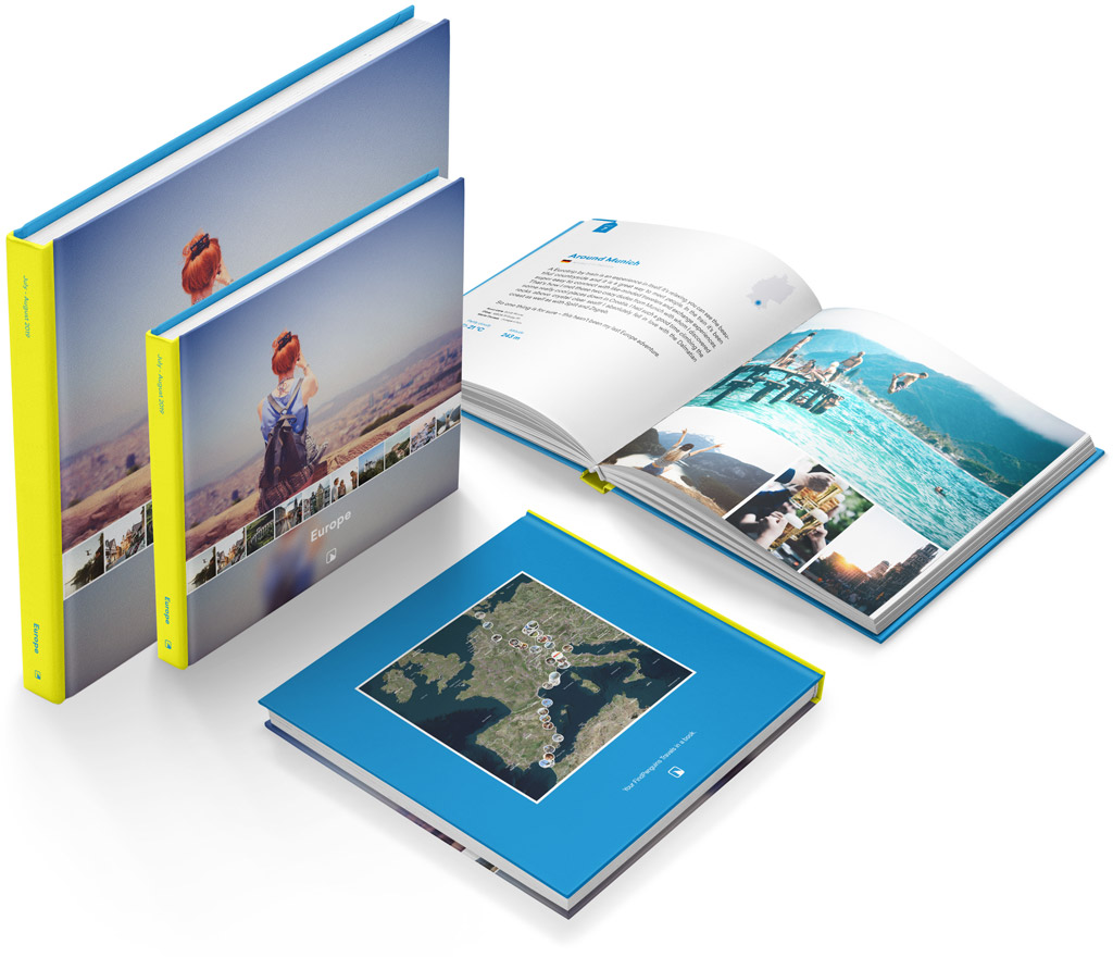 Your journey in a photo book  Print your travel journal